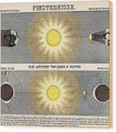 Eclipses Wood Print
