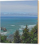 Ecola State Park Wood Print
