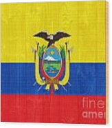 Ecuador Flag Wood Print