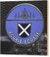 Ecurie Ecosse Badge Wood Print