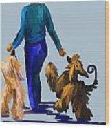 Eddie Dancing With Dogs Wood Print