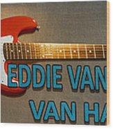 Eddie Van Halen Guitar Wood Print