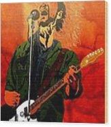 Eddie Vedder-eddie Live Wood Print by Bill Manson