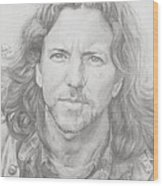 Eddie Vedder Wood Print
