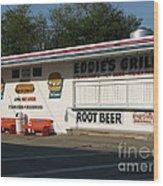 Eddie's Grill Wood Print