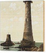 Eddystone Lighthouse Plymouth England Wood Print