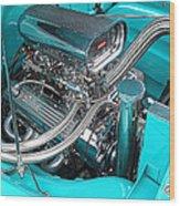 Edelbrock In A Chevy 3100 Hotrod Wood Print