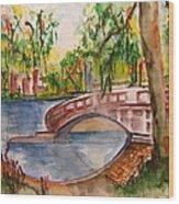 Eden Park Lake Wood Print