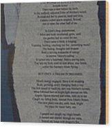 Eden's Womb Poem Collage Wood Print