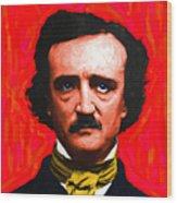 Edgar Allan Poe - Painterly - Square Wood Print