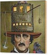 Edgar Allan Poe Updated Image Wood Print