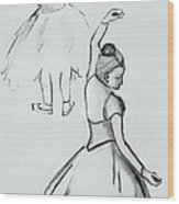 Edgar's Dancers Wood Print