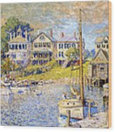 Edgartown  Martha's Vineyard Wood Print by Colin Campbell Cooper