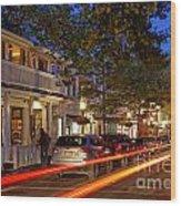 Edgartown Nightlife Wood Print
