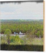 Edge Of Mississippi River Wood Print