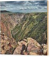 Edge Of The Black Canyon Wood Print