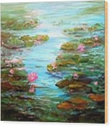 Edge Of The Lily Pond Wood Print by Barbara Pirkle