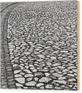 Edge Of The Old Stone Road Wood Print