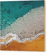 Edge Of The Pool Wood Print