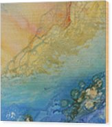Edge Of The Sea Wood Print