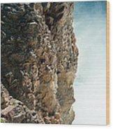 Edge Of The Upper Falls Wood Print