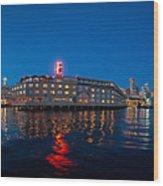 Edgewater The Big Red E Wood Print
