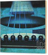 Edgy Abstract Eclectic Guitar 16 Wood Print by Andee Design