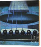 Edgy Abstract Eclectic Guitar 17 Wood Print