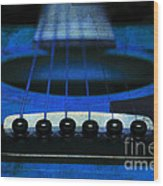 Edgy Abstract Eclectic Guitar 18 Wood Print by Andee Design