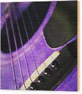 Edgy Purple Guitar  Wood Print