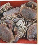 Edible Crabs  Wood Print