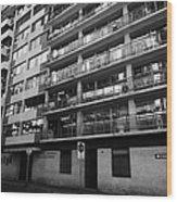 edificio general norambuena mutualidad de carabineros Santiago Chile Wood Print