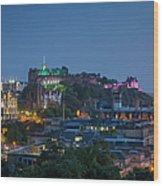 Edinburgh Twilight Wood Print