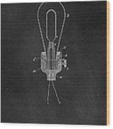 Edison Light Bulb Patent Art Chalkboard Wood Print