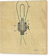 Edison Light Bulb Patent Art Wood Print