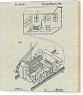 Edison Locomotive 1892 Patent Art Wood Print by Prior Art Design