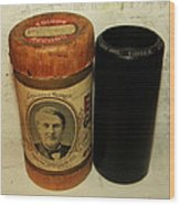 Edison Phonograph Cylinder 9750 Comic Song  Garibaldi  Wood Print by Bill Cannon