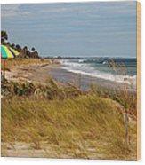 Edisto Beach By Jan Marvin Wood Print