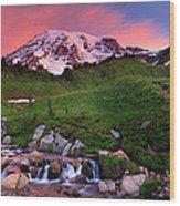Edith Creek Sunrise Wood Print