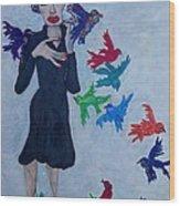 Edith Piaf  The Little Sparrow Wood Print