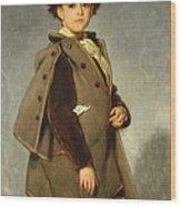 Edmond Dehodencq Wearing An Inverness Cape Wood Print