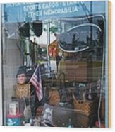 Ed's Collectables Window Display Wood Print