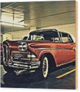 Edsel In Vegas Wood Print