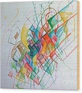 Education 1 Wood Print by David Baruch Wolk