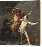 Education Of Achilles Wood Print