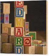 Edward - Alphabet Blocks Wood Print