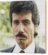 Edward James Olmos In Miami Vice  Wood Print by Silver Screen