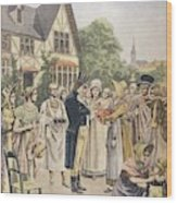 Edward Jenner Carries Out His First Wood Print