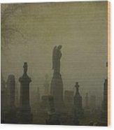 Eerie Darkness In The Fog Wood Print