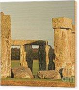 Eerie Stonehenge 4 Wood Print